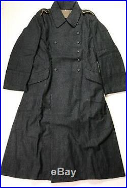 Wwii German Luftwaffe Blue Wool M40 Overcoat Greatcoat- Size 3 (44-46r)