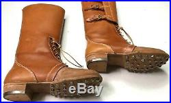 Wwii German M1933 M33 Jackboots Campaign Boots- Size 10