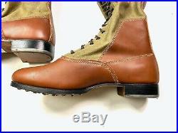Wwii German M1935 Afrika Korp Knee High Combat Field Boots- Size 13