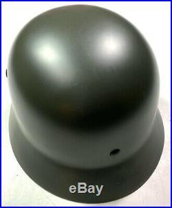 Wwii German M1935 M35 Combat Field Helmet- 68 Shell, 59 Liner