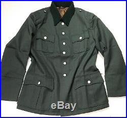 Wwii German M1936 M36 Officer Heer Waffen Tricot Tunic- Size 4 (48-50r)