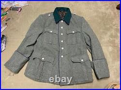 Wwii German M1936 M36 Wool Officer Tunic- Sani Medic- 2xlarge 48r