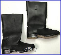 Wwii German M1939 M39 Leather Jackboots- Size 9