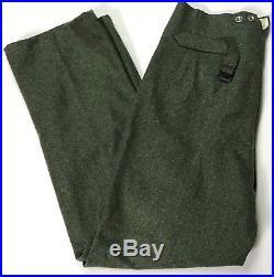 Wwii German M1940 M40 Wool Combat Field Grey Trousers- 2xlarge