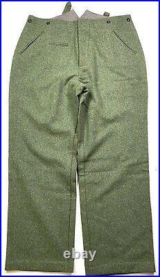 Wwii German M1940 M40 Wool Combat Field Grey Trousers- Large