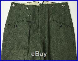 Wwii German M1940 M40 Wool Combat Field Grey Trousers- Xlarge