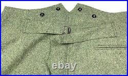 Wwii German M1940 M40 Wool Combat Field Grey Trousers-medium