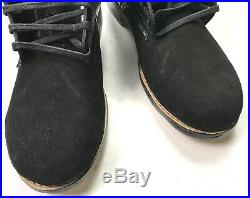 Wwii German M1942 M42 Leather Low Boots, Black Leather- Size 13