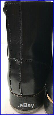 Wwii German M1942 M42 Leather Low Boots, Black Leather- Size 8