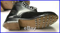 Wwii German M1942 M42 Leather Low Boots, Black Leather- Size 9