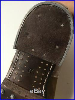 Wwii German M1942 M42 Leather Low Boots- Size 10