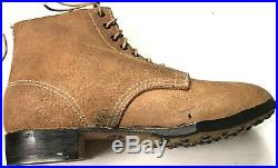 Wwii German M1943 M43 Rough Outs Leather Low Boots- Size 10