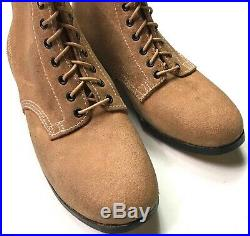 Wwii German M1943 M43 Rough Outs Leather Low Boots- Size 9