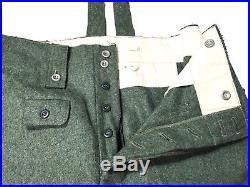 Wwii German M1943 M43 Wool Combat Field Grey Trousers- Size 3xlarge