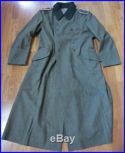 Wwii German M36 M1936 Wool Overcoat Greatcoat- Size 5 (52r, 54r)