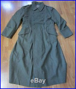 Wwii German M40 M1940 Wool Overcoat Greatcoat- Size 3 (44r, 46r)