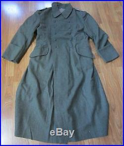 Wwii German M40 M1940 Wool Overcoat Greatcoat- Size II (38r, 40r, 42r)