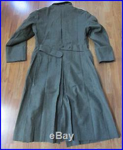 Wwii German M40 M1940 Wool Overcoat Greatcoat-size 5 (52r, 54r)