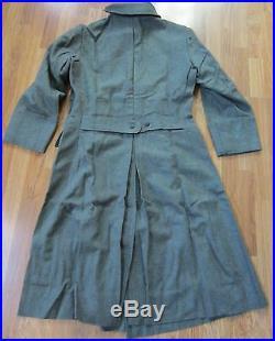 Wwii German M42 M1942 Wool Overcoat Greatcoat- Size 2 (38-42r)