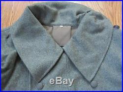 Wwii German M42 M1942 Wool Overcoat Greatcoat- Size 4 (48r, 50r)