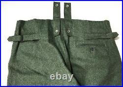 Wwii German M43 Wool Combat Field Grey Trousers- Size Xlarge
