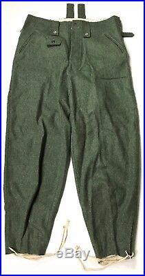 Wwii German M43 Wool Combat Field Grey Trousers- Small