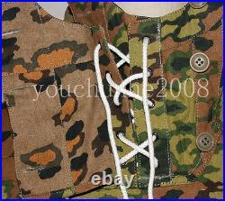 Wwii German Spring And Autumn Oak Camo Reversible Mountain Anorak Smock Xl-32471
