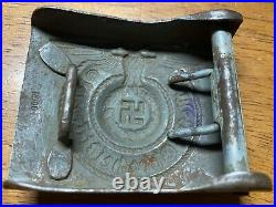 Wwii German Ss Belt Buckle With Rodo Stamp