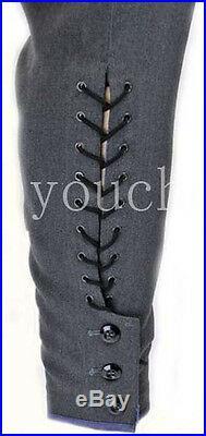 Wwii German Stone-grey Officer Gabardine Breeches (custom Tailored / Made)-32796
