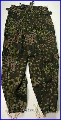 Wwii German Waffen Dot 44 Camo Field Trousers- Size 1 30-32 Waist