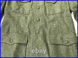 Wwii German Waffen M1942 M42 Wool Combat Field Tunic-3xlarge