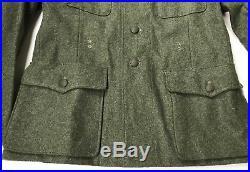 Wwii German Waffen M1942 M42 Wool Combat Field Tunic-large