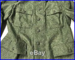 Wwii German Waffen M1943 M43 Wool Combat Field Tunic-2xlarge