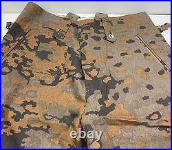 Wwii German Waffen Oak B Camo M37 Field Trousers-large