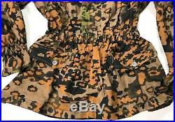 Wwii German Waffen Oak B Camo Reversible Field Smock- Size III (44-46r)