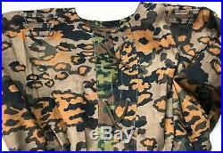 Wwii German Waffen Oak B Camo Reversible Field Smock- Size V (52r)