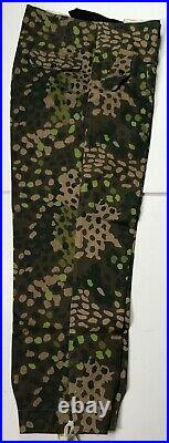 Wwii German Waffen Panzer Dot 44 Camo Tanker Trousers- Size 3 34-36 Waist