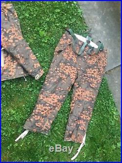 Wwii German Winter Parka Set Winteranzug Oak Camouflage Cold Top Pants Jacket