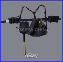 Wwii Ww2 Army Uniform Combat Equipment K98 Ammo Pouch Germen Belt Shovel & Cover