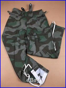 Wwii Ww2 German Army Wh M43 Splinter Camo Field Tunic & Trousers Set, Size L