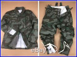 Wwii Ww2 German Army Wh M43 Splinter Camo Field Tunic & Trousers Set, Size XXL