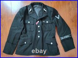 Wwii Ww2 German Elite M32 Black Wool Colonel Collar Tabs Tunic Size S