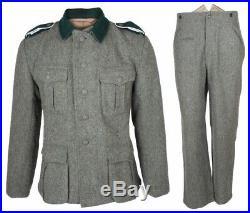 Wwii Ww2 German M36 Em Wool Field Military Uniform Set Tunic & Trousers L