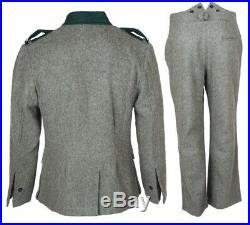 Wwii Ww2 German M36 Em Wool Field Military Uniform Set Tunic & Trousers M